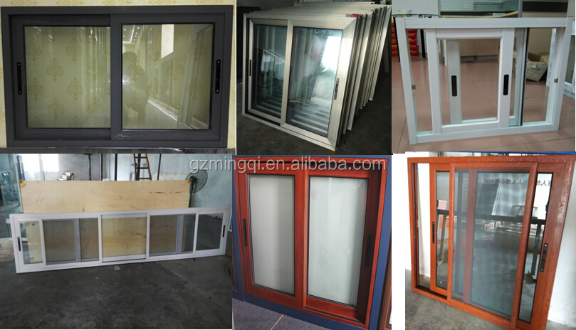 Hot upvc commercial sliding glass reception windows frames for Window door manufacturers