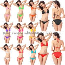 Hot Sale Style Women Swimwear Bikini Set Sexy different color women's