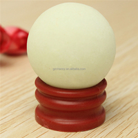 1PC 35*35MM Glow In The Dark Stone Luminous Quartz Crystal Sphere Ball 100% Brand New White Marble Plastic Base