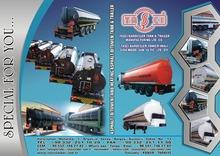 Heating Bitumen Asphalt Tank Trailer