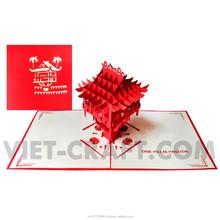 One pillar pagoda - Hanoi, Vietnam 3d handmade card