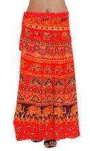 indio algodón verano las mujeres usan falda abrigo largo