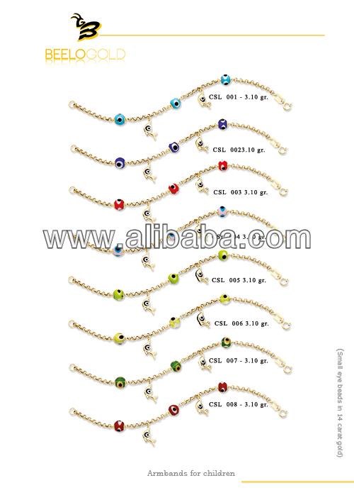 14k de oro macizo de mal de ojo turco del grano encanto delfines amuleto para pulsera chid