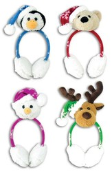 SANTA HAT W/EAR MUFFS #027682L