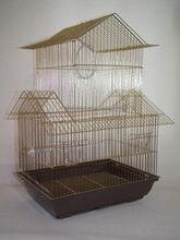 Pet Bird House Shaped Wire Cage