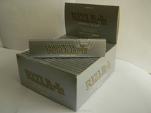50 RIZLA SILVER KING SIZE SLIM ULTRA THIN CIGARETTE ROLLING PAPERS ORIGINAL