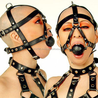 sexy harness full body harness with lanyard head harness with ball gag