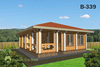 House from planed log b339, b363, b378 in Russia
