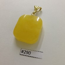 Honey Yellow Amber (925 Gold-Plated) Pendant 4,2gr #290