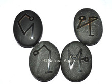 Embossed Stone Black Agate Arch Angels Set : Supplier Embossed Stone Set