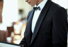 Japanese modern design bellboy uniform , small lot order available