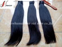 Double drawn hair, machine weft human hair high quality