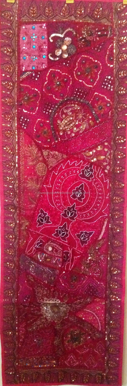 indian tribal ethnique vintage tissu sari patchwork perles. Black Bedroom Furniture Sets. Home Design Ideas