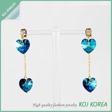 KR-577 crystal heart shaped earring pierce hot sale
