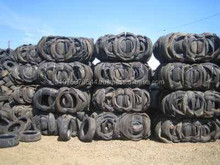 Used tyre in bale
