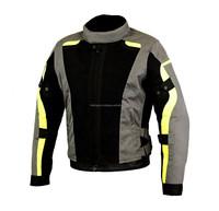 Men's Waterproof Cordura Motorcycle reflective Jacket, New Flash Gear Textile Cordura Motorbike Windproof functional Jacket