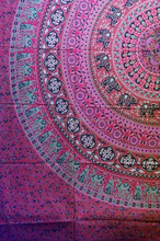 Indian printed tapestry wholesale mandala Yoga tree of life spirit 3d Tie & Dye Printed Tapestry Indian fabric Cotton tapestry