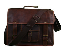 soft leather laptop bag Genuine Leather Laptop Briefcase messenger satchel bag