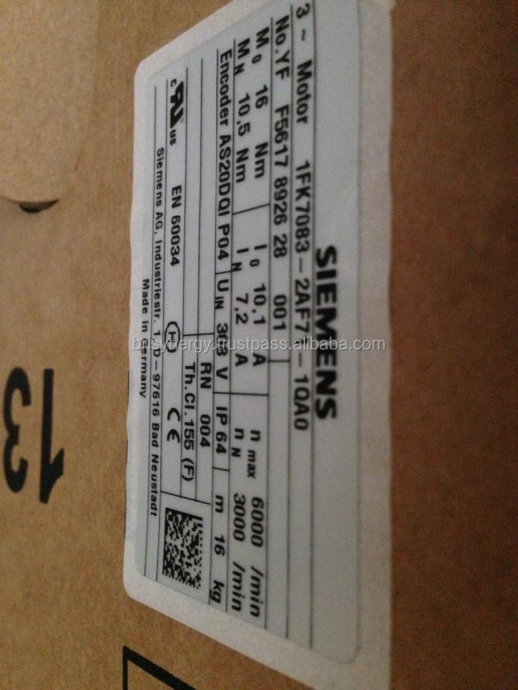 Siemens 1fk7083 2af71 1qa0 Electric Motor Inverter Duty