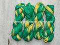 Bosque verde& de oro de la cinta de seda para el trabajo artesanal