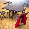 Slat high quality outdoor garden furniture solid wood set