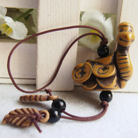 Resin Hanging Decoration with Nylon Cord Snake Carved 33x130mm 3Bags/Lot 100PCs/Bag Sold By Lot