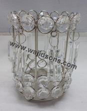 Crystal votive and centerpieces for church decoration made in India