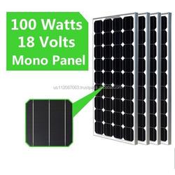 mono solar panel 100 watt 18v