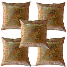 Manufactured Low Rate Hand Made Mirror Work Cushion Cover pillow cover