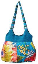 indian kantha ladies fashion patch style shoulder bag, Handmade kantha printed ladies bag
