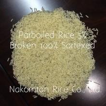 Thai Parboiled rice 5% Broken 100% Sortexed