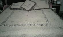 Hand made embroidery design bed sheet/bedding set new design 2015