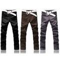 2014 el último diseño de moda para hombre de cintura alta de pana de algodón pantalones de forma...