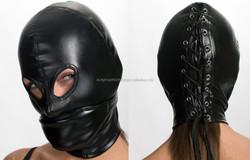 leather eye mask latex hood mask face mask hood