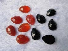 Red Carnelian/Black Onyx Round Cabochon Pear drop shape designer cabochon Contemporary stylish lapis lazuli gemstone cabochon