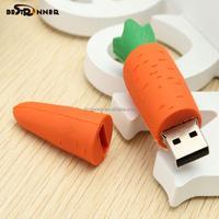 Best Selling Cool Gift Minions Usb 2.0 Usb Flash Drive Mini Memoria Pen Drive Carrot Cartoon Gift USB2.0 4GB Cartoon Usb Flash