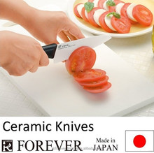 Ceramic kitchen knives used by pro chef, stylish and unique, light and handy, high quality, also for home use, made in Japan