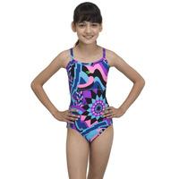 Speedo Carnival Allover Thinstrap Muscleback Junior Swimsuit