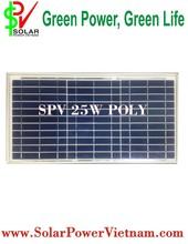 25W Poly solar panel (Solar Viet Nam Mono SPV25W)