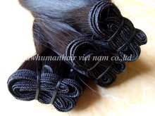 Double straight hair extensions 100% Virgin Unprocessed Vietnam Hair