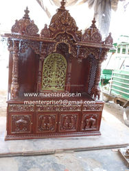 Big home temple mandir with drawers for pooja room