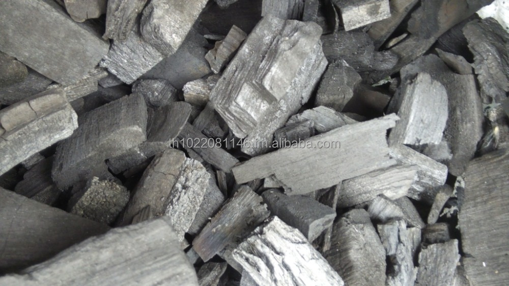 Wood charcoal for industrial purposes