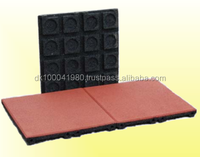 ErgoPlay outdoor safety rubber blocks/EN1177 certificated safety rubber floor tiles/roof deck choise rubber floor