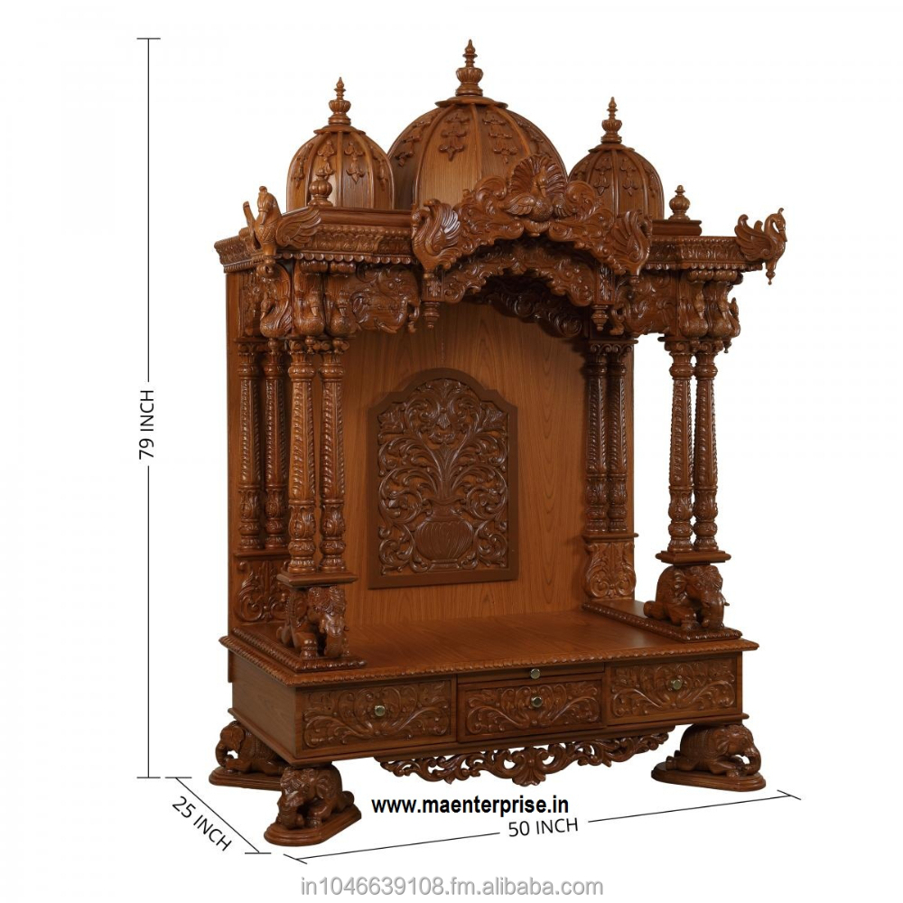 Beautifull Carved Indian Pooja Mandir Temple Buy Temple