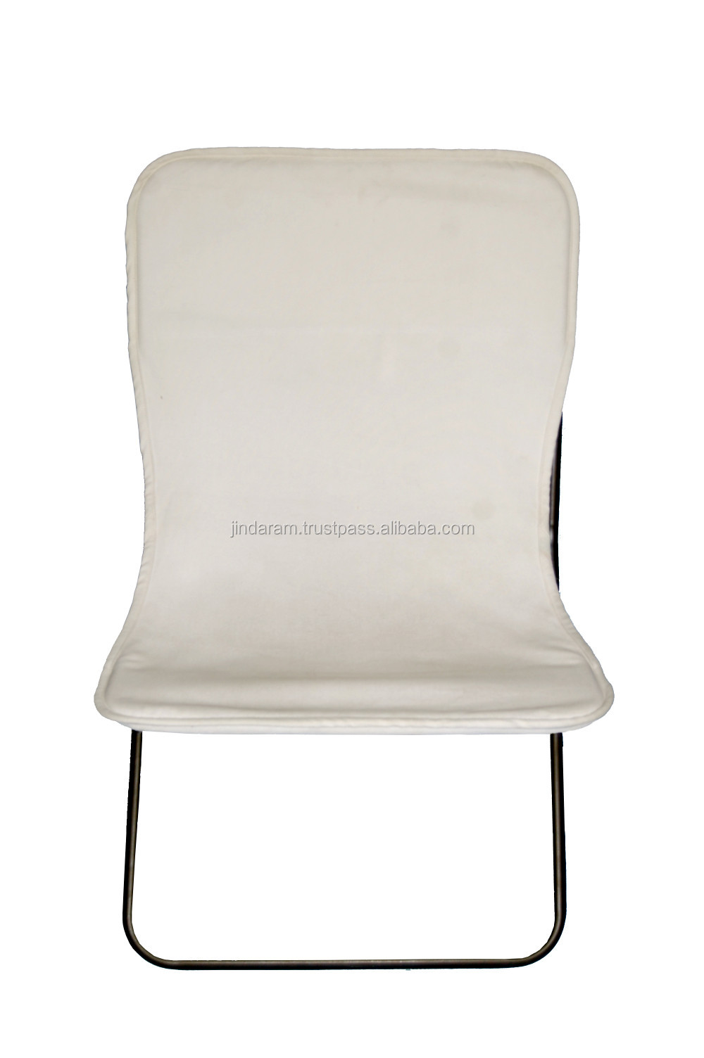White Canvas Small Square Butterfly Chair.JPG