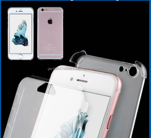 Clear Transparent Two Piece PC Full Body Front and Hard Back Protective Case Cover for iPhone 6 6s