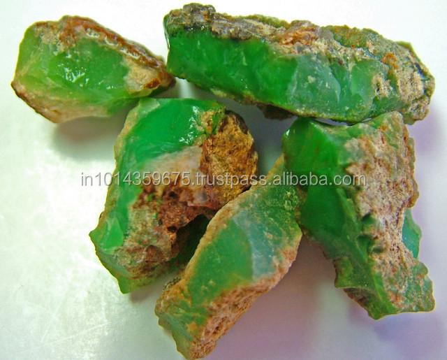 Semi Precious Gemstone Raw Stone : Chrysoprase gemstone raw rough supply semi precious stones