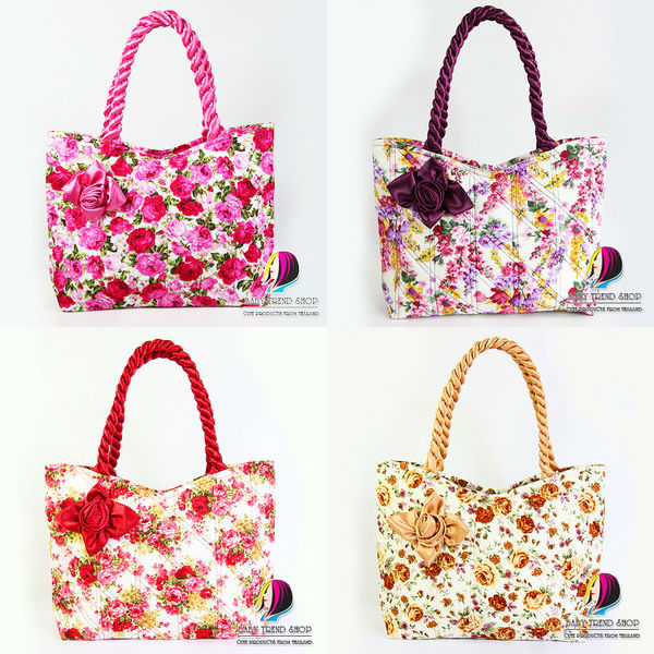 handbags dot arrow tote bags with front rose ribbon and