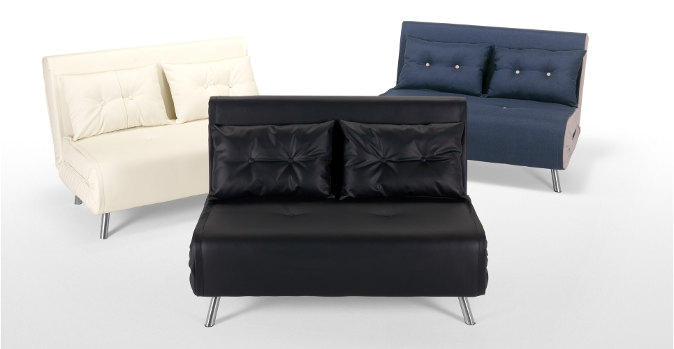 Haru Small Sofa BedQuartz Blue 2 Seater Sofas Buy