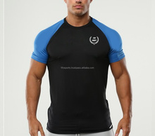 custom supreme Cotton spandex performance men's gym bodybuilding muscle fitness t shirts dry fit for training wholesale